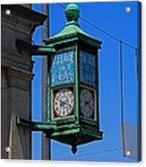 Village Of Elmore Clock-vertical Acrylic Print
