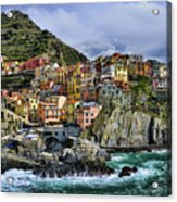 Village Of Manarola - Cinque Terre - Italy Acrylic Print by JH Photo Service
