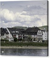 Village Of Spay Germany And Marksburg Castle Acrylic Print