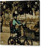Village Rides Acrylic Print