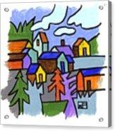 Village Scene Acrylic Print