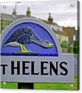 Village Sign - St Helens Acrylic Print