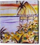 Village Sunset  Acrylic Print