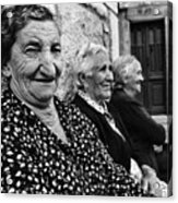 Village Women In Alberca Spain Acrylic Print