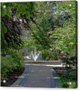 Villanova Fountain Acrylic Print