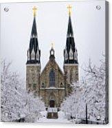 Villanova University After Snow Fall Acrylic Print