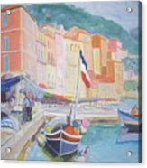 Ville Franche Boat Acrylic Print