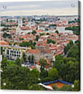 Vilnius Panorama From The Hill Of Three Crosses Acrylic Print