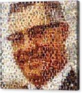 Vince Lombardi Green Bay Packers Mosaic Acrylic Print