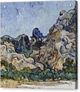 Vincent Van Gogh  Mountains At Saint Remy Acrylic Print