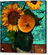 Vincent's Sunflowers 2 Acrylic Print