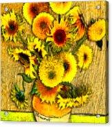Vincent's Sunflowers Acrylic Print