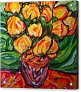 Vinces Flowers Acrylic Print
