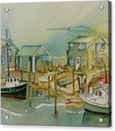 Vineyard Boats Acrylic Print