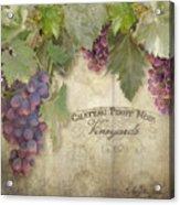 Vineyard Series - Chateau Pinot Noir Vineyards Sign Acrylic Print