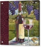 Vineyard Wine Tasting Collage I Acrylic Print