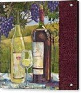 Vineyard Wine Tasting Collage II Acrylic Print