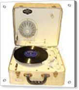Vintage 1950s Record Player And Vinyl Record Acrylic Print