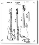 Vintage 1953 Fender Base Acrylic Print