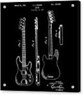 Vintage 1953 Fender Base Patent Acrylic Print