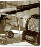 Vintage Adding Machine Acrylic Print