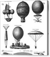 Vintage Aeronautics - Early Balloon Designs Acrylic Print