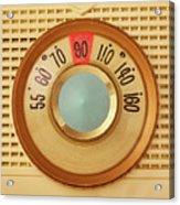 Vintage AM Radio Dial Acrylic Print