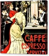 Vintage Antique Italian Coffeehouse Advertising Acrylic Print