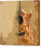 Vintage Background Guitar Acrylic Print