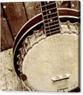 Vintage Banjo Barn Dance Acrylic Print