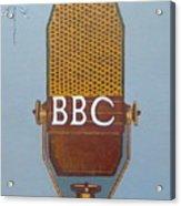 Vintage Bbc Mic Acrylic Print