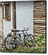 Vintage Bicycles The Journey Acrylic Print