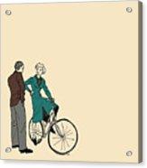 Vintage Bike Couple Acrylic Print