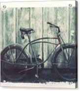 Vintage Bike Polaroid Transfer Acrylic Print by Jane Linders