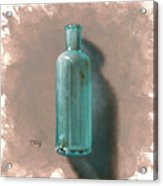 Vintage Blue Bottle Acrylic Print by Timothy Jones