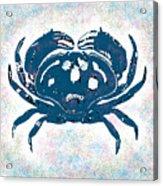 Vintage Blue Crab Acrylic Print