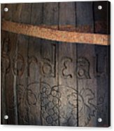 Vintage Bordeaux Wine Barrel Without Its X Acrylic Print