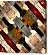 Vintage Bottles Abstract Acrylic Print