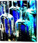 Vintage Bottles At A Flea Market Hard Acrylic Print