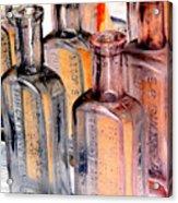 Vintage Bottles At A Flea Market Neg Acrylic Print