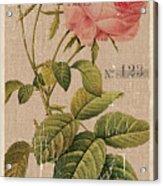 Vintage Burlap Floral 2 Acrylic Print