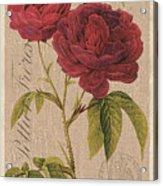 Vintage Burlap Floral 3 Acrylic Print
