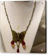 Vintage Butterfly Dreams Necklace Acrylic Print