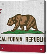 Vintage California Flag Acrylic Print
