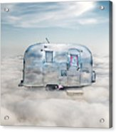 Vintage Camping Trailer In The Clouds Acrylic Print