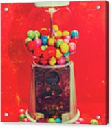 Vintage Candy Store Gum Ball Machine Acrylic Print