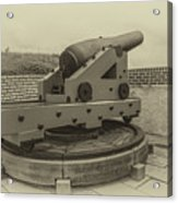 Vintage Cannon At Fort Moultrie Acrylic Print