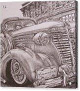Vintage Car On The Street Acrylic Print