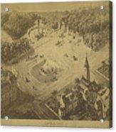 Vintage Central Park Entrance Illusration - 1865 Acrylic Print