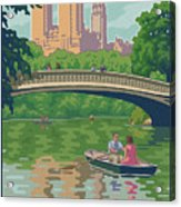 Vintage Central Park Acrylic Print by Mitch Frey